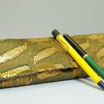 西陣織 金襴 正絹 アフリカ紋様 ペン入れ