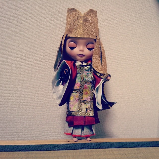 西陣織 金襴 正絹 西陣金襴展~道具と技~ カスタム部ライス人形 七条袈裟着衣