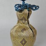 西陣織 金襴 正絹 切子の花瓶 仕覆