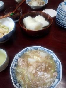白菜と豚肉のあんかけ