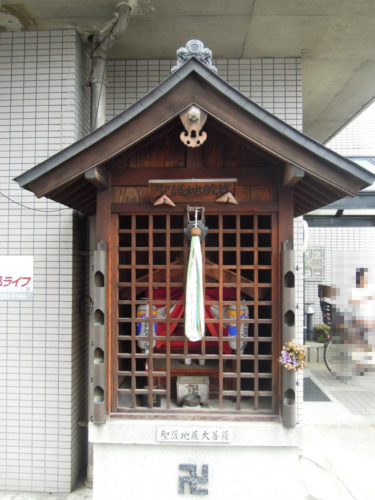 下京区中堂寺壬生川町のお地蔵さん