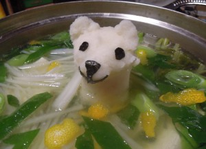 シロクマちゃん柚子たっぷりみぞれ鍋
