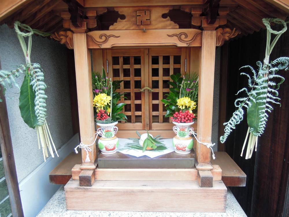 上京区西洞院中長者町通東入ル仲之町のお地蔵さん、お正月バージョン