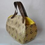 西陣織 金襴 正絹 菱繋ぎ紋様 ライスボールバッグ
