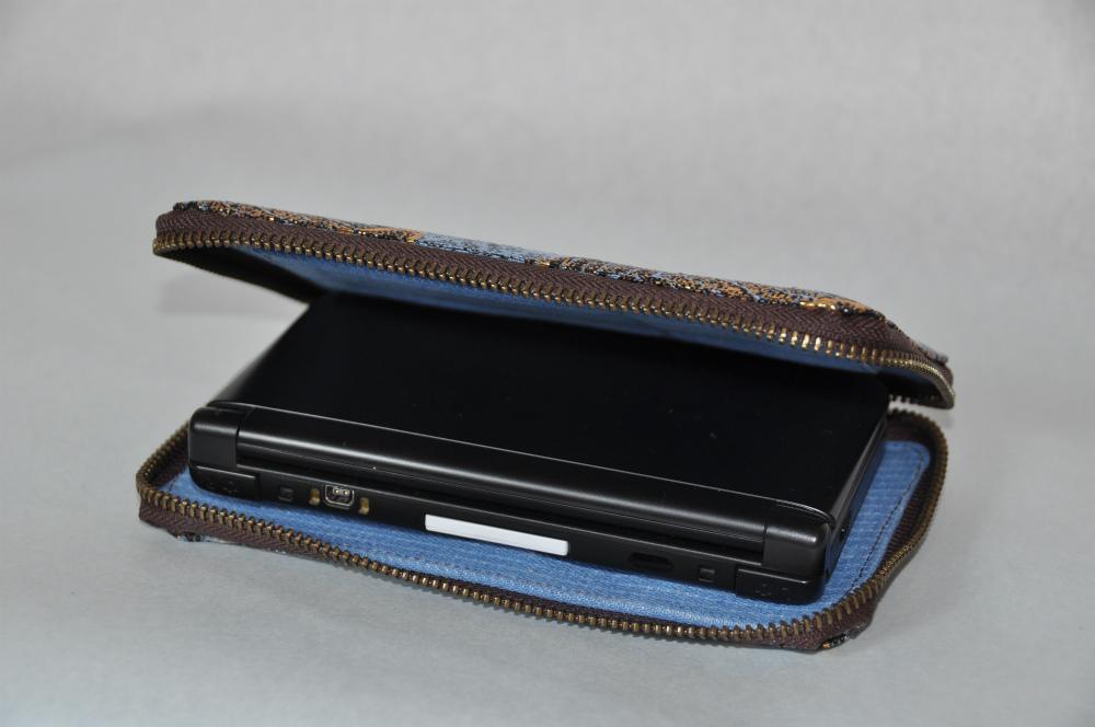 西陣正絹金襴 葉脈紋様 New 3DS LLケース