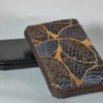 西陣織 金襴 正絹 葉脈紋様 New 3DS LLケース