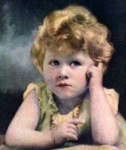3歳のエリザベス王女