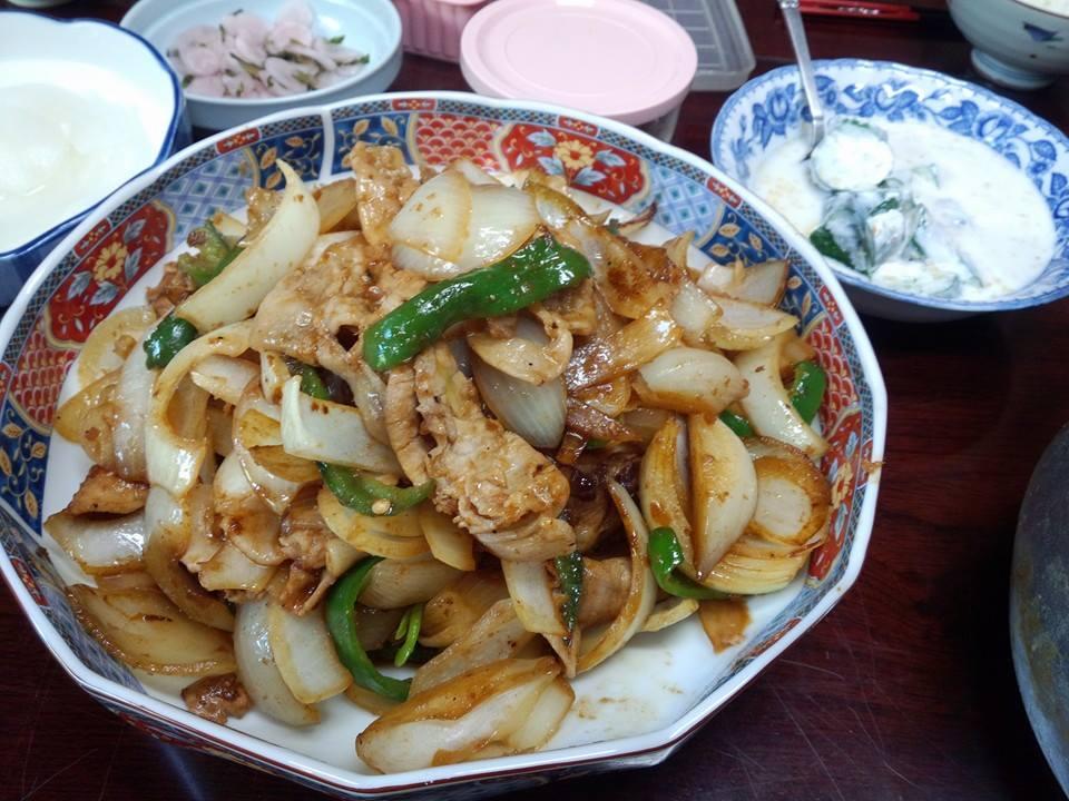 豚と野菜の生姜炒め