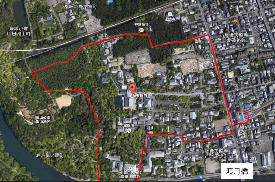 google map 天竜寺