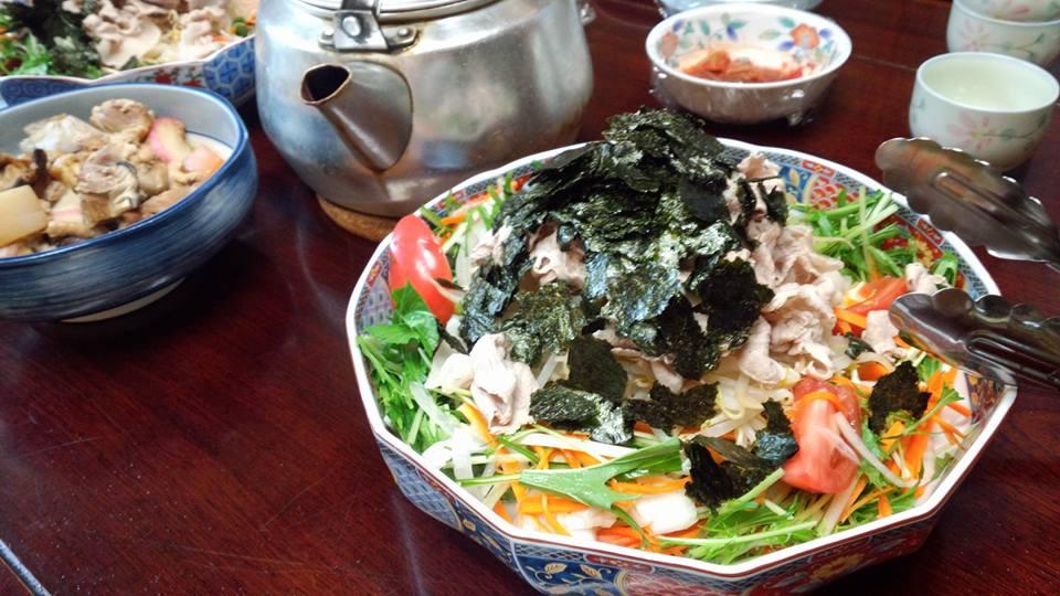 野菜たっぷり豚しゃぶサラダ