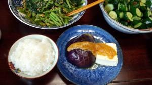 賀茂なすと豆腐の田楽