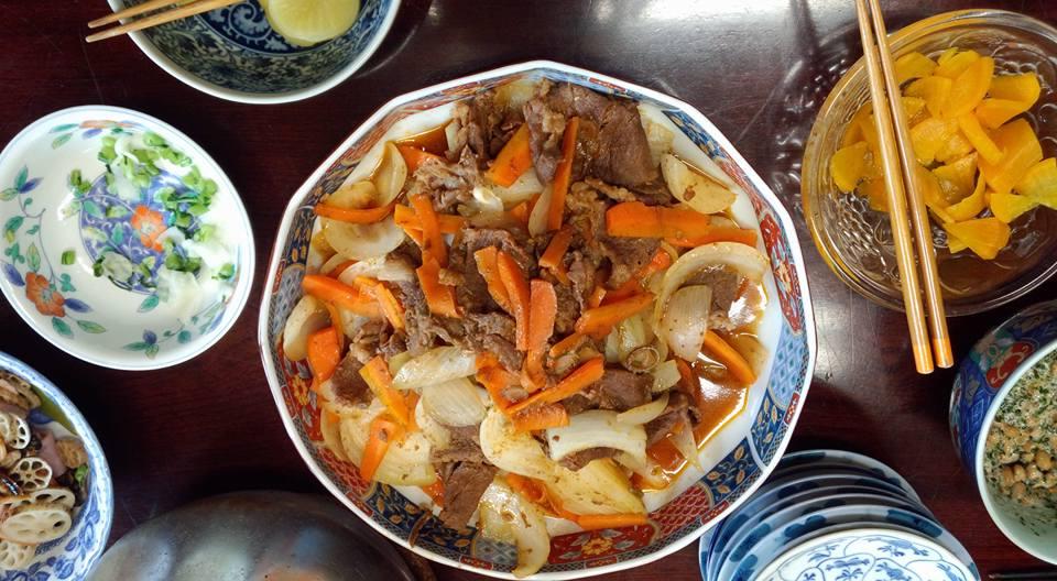 牛肉の野菜焼き。その他諸々