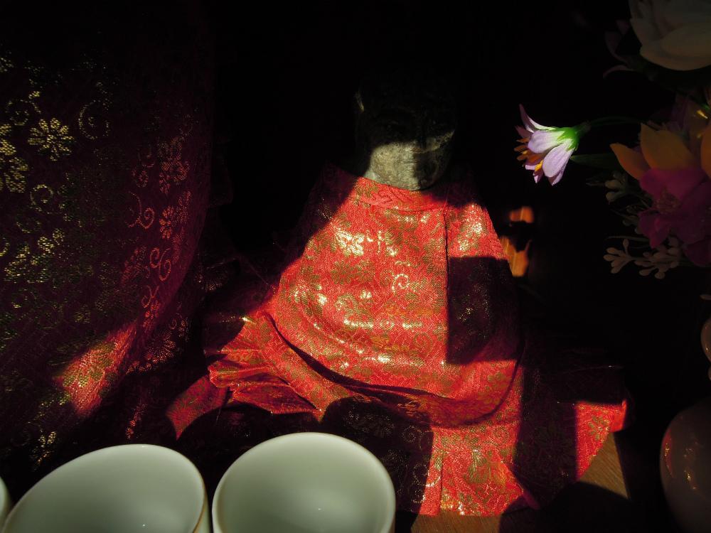 大阪市福島区野田 堤地蔵~西陣金襴織屋の金襴探し | 西陣 岡本