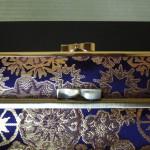 西陣正絹金襴  雪輪大 がま口タイプの扇子入れ
