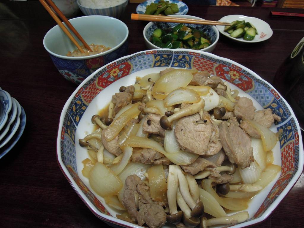 豚ヒレ肉と野菜炒め