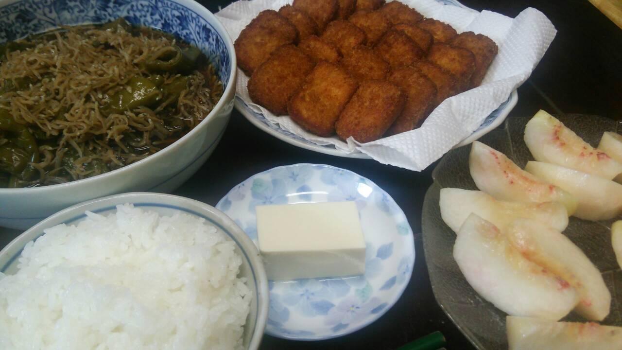 お豆腐と魚のフライ