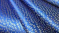 全正絹 西陣金襴 滴紋様 青38・ピンク18・紫19・グリン17
