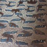 全正絹 西陣金襴 アフリカ紋様 輪違いの茶経 グリン15・グリン20