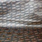 全正絹 西陣金襴 アフリカ紋様 利休茶グリン36光