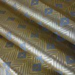 全正絹 西陣織 金襴 菱つなぎ紋様
