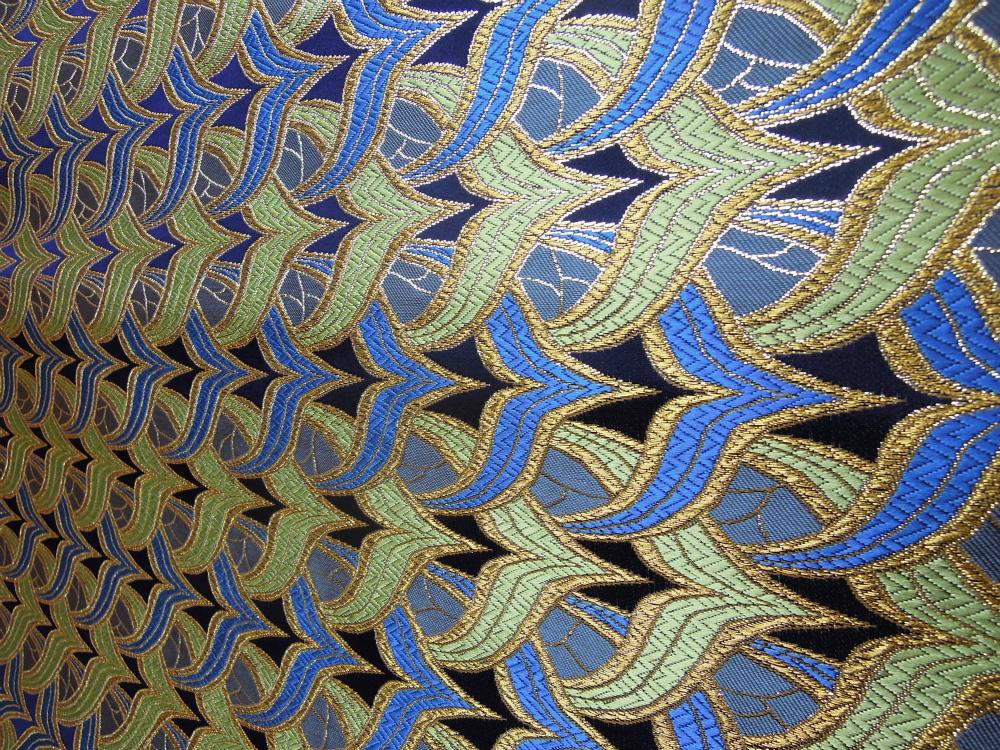 全正絹 西陣織 金襴 燕矢紋様