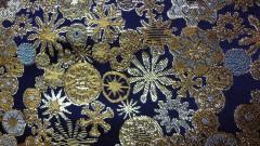 全正絹 西陣金襴 雪輪紋様