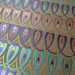 西陣正絹金襴 羽重ね ピンク・紫・グリン