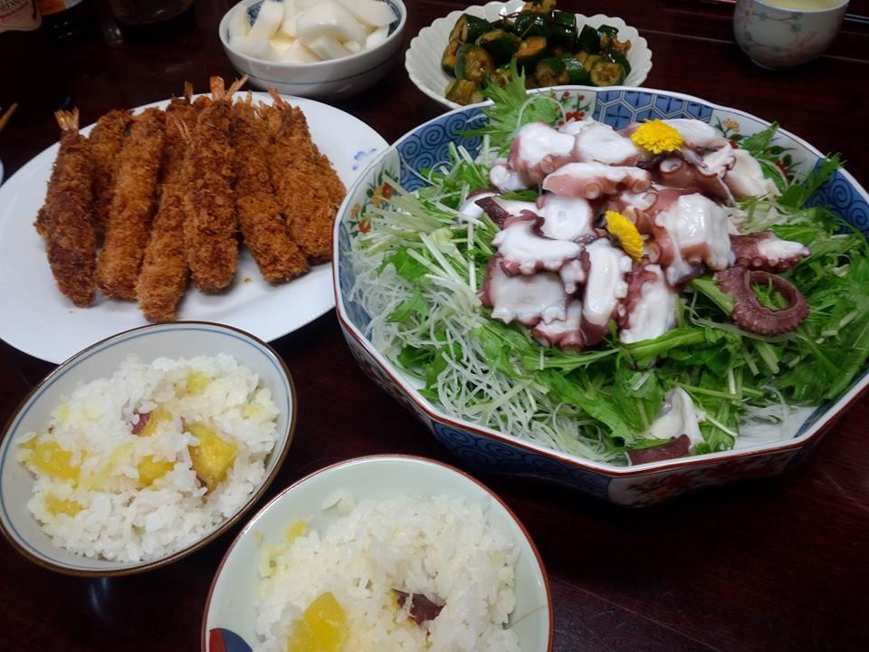蛸と水菜のサラダ