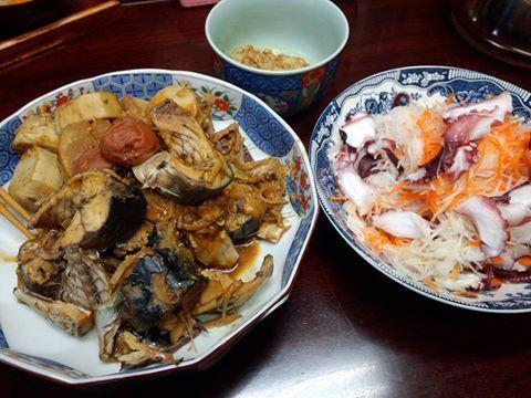 鯖と京芋の味噌煮