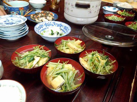 壬生菜とお揚げさんを炊いたん