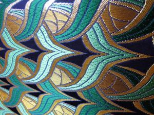 全正絹 金襴 燕矢紋様 十二釜
