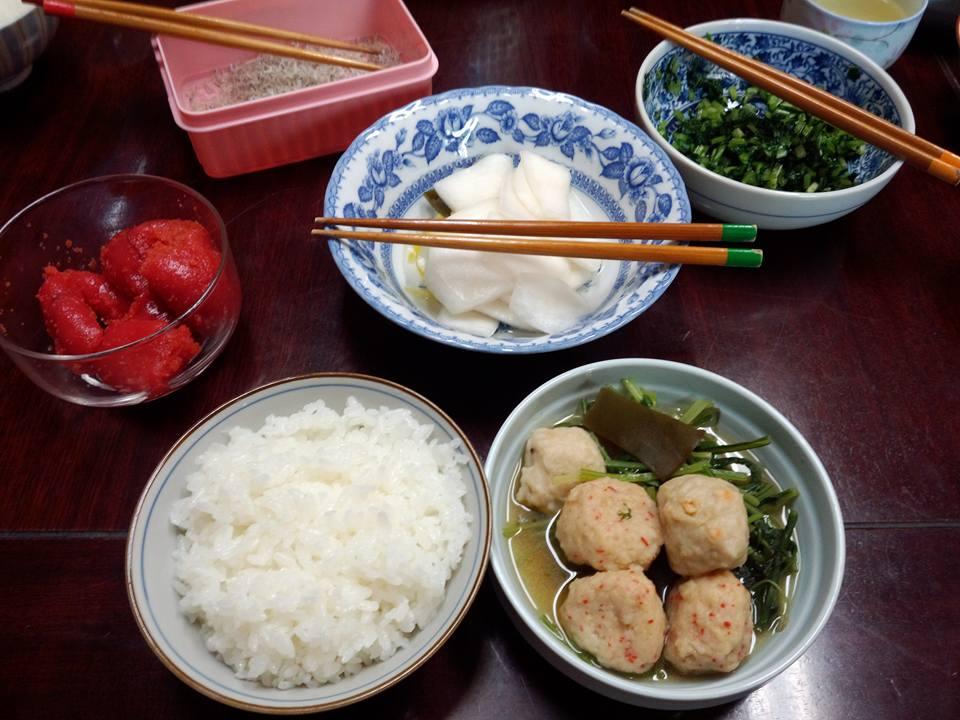 壬生菜と練り物を炊いたん