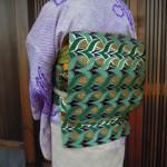 西陣織 全正絹 西陣金襴 燕矢紋様の帯