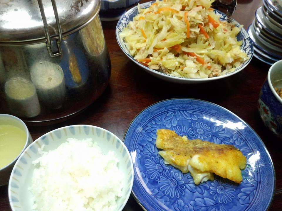 鱈のムニエルカレー風味