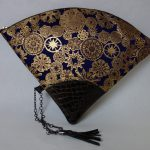 扇形バッグ Fan-shaped bag DISCOVER KANSAI 紺雪輪