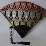 扇形バッグ Fan-shaped bag DISCOVER KANSAI 羽重ね紺