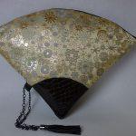 扇形バッグ Fan-shaped bag DISCOVER KANSAI 雪輪白茶