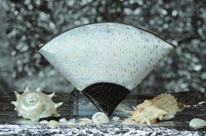 扇形バッグ Fan-shaped bag DISCOVER KANSAI 白滴