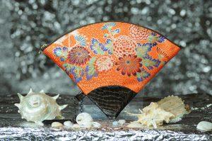 扇形バッグ Fan-shaped bag DISCOVER KANSAI 朱菊地紋菊尽しC