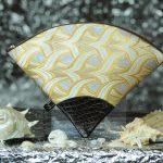 扇形バッグ Fan-shaped bag DISCOVER KANSAI 燕矢白茶