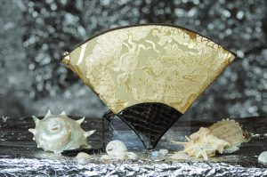 扇形バッグ Fan-shaped bag DISCOVER KANSAI 白茶D