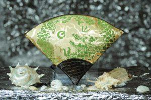 扇形バッグ Fan-shaped bag DISCOVER KANSAI 白茶グリン10