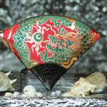 扇形バッグ Fan-shaped bag DISCOVER KANSAI 赤B