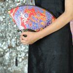 扇形バッグ Fan-shaped bag DISCOVER KANSAI 赤A