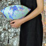扇形バッグ Fan-shaped bag DISCOVER KANSAI 青A