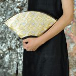 扇形バッグ Fan-shaped bag DISCOVER KANSAI 燕矢白茶