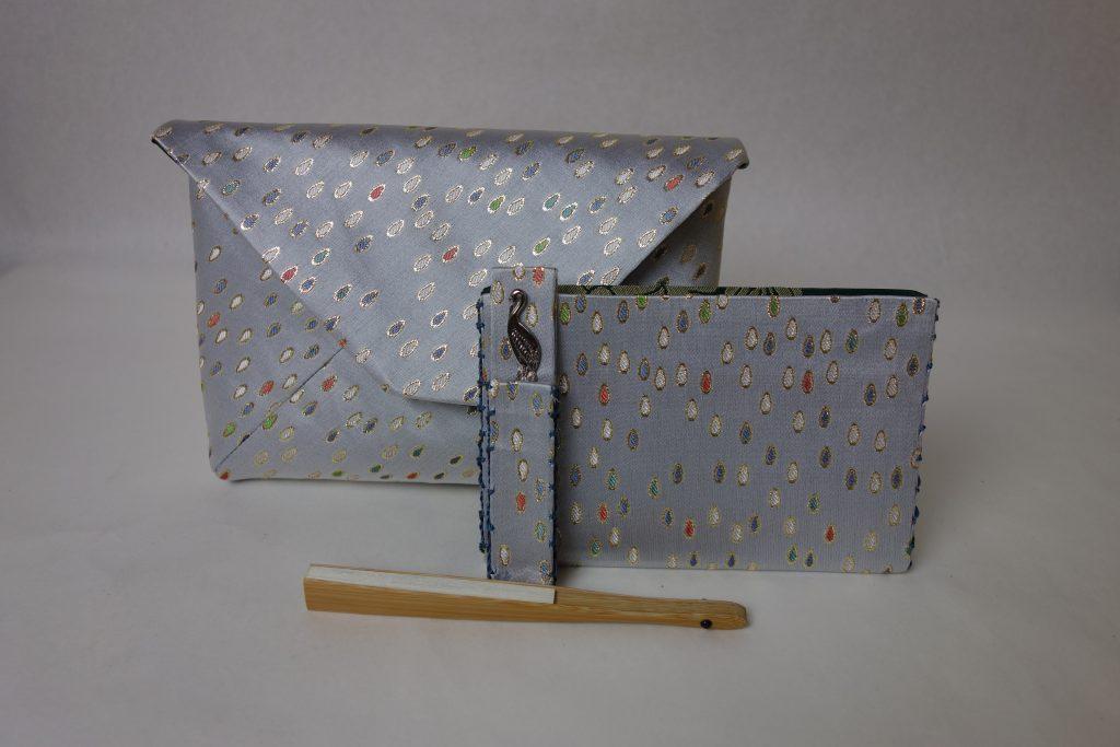 西陣織 金襴 滴紋様 数奇屋袋