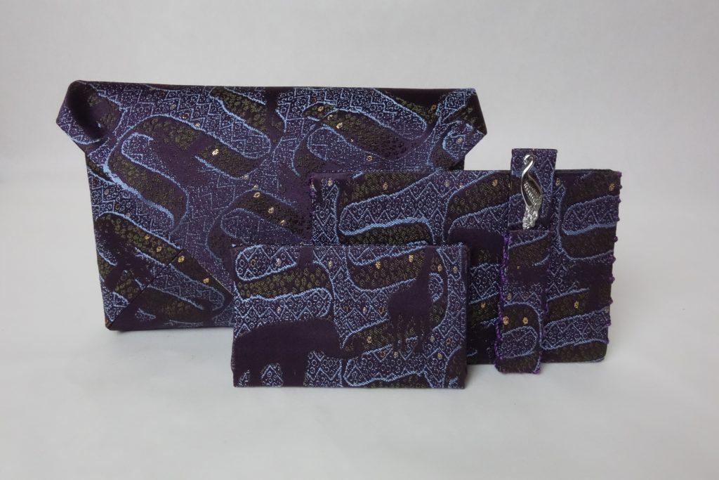 西陣織 金襴 アフリカ紋様 数奇屋袋