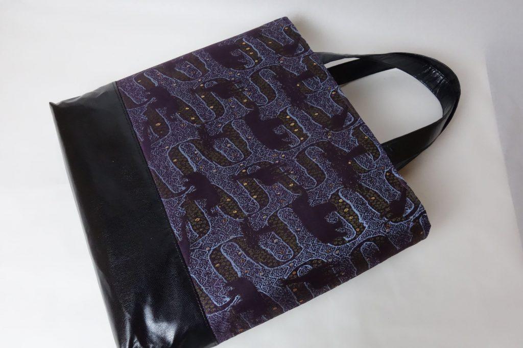 全正絹 西陣金襴 アフリカ紋様のトートバッグ