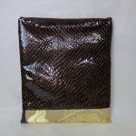 全正絹 西陣金襴 散雲丸龍紋様とエナメル山羊革のクラッチバッグ